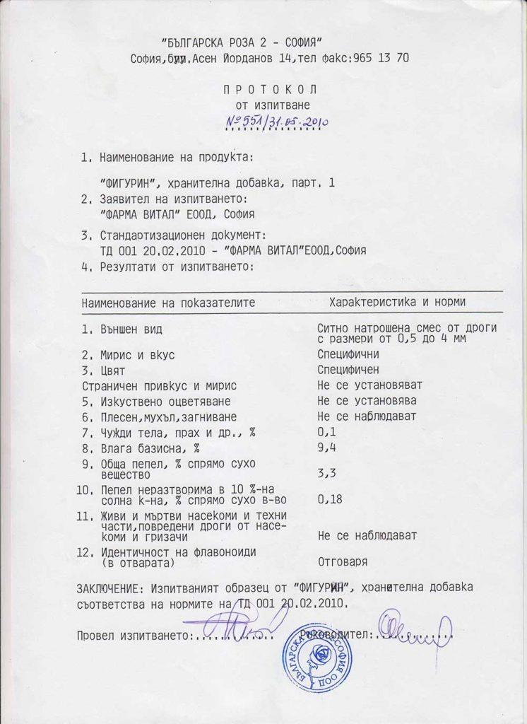 Фигурин сертификат протокол